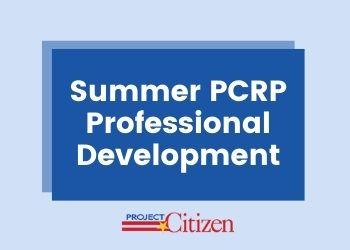 Summer PCRP Professional Development