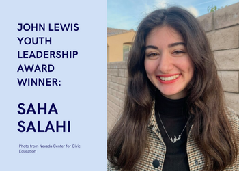 We the People District Coordinator and Alumna Wins John Lewis Youth Leadership Award