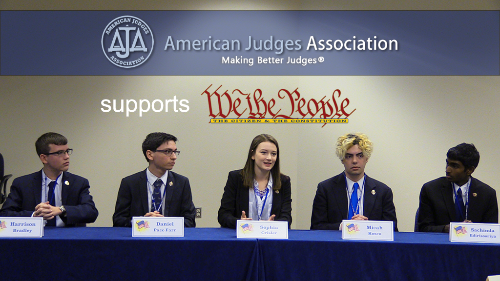 The American Judges Foundation, which has its roots in the American Judges Association,  has been a leader for some years  in supporting the Center for Civic Education and recently pledged $7,500 to support the Centers work.